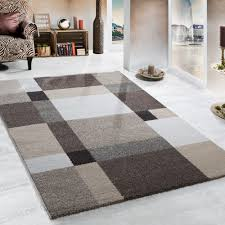 heavy woven rug modern beige brown cream 001