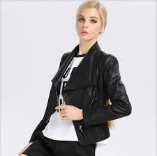 china c1212 paris style soft high quality women s fashion short motorcycle jacket oblique zipper big lapal coat pu leather jacket punk style china