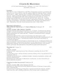 Best Resume Samples For Administrative Assistant Administrative ...