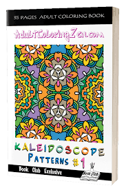 As a member of zen coloring club, you get a new coloring book every week that you can print out any time the mood to color hits you. Kaleidoscope Patterns Adult Coloring Zen Adult Coloring To Help You Relax
