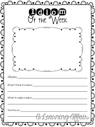 A Learning Affair*: Idiom of the Week Activity FREEBIE Worksheet ...
