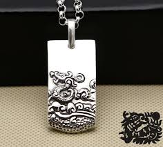 handmade 925 silver the chinese zodiac dragon animal pendant mp0309