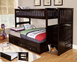 bunk beds with storage. Interesting Bunk Amazoncom Discovery World Furniture Twin Over Full Staircase Bunk Bed  With 3 Drawer Storage Espresso Kitchen U0026 Dining In Beds With Storage W