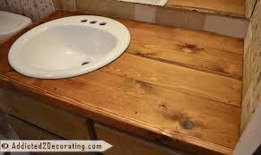 bathroom makeover day 2 my 35 diy wood countertop
