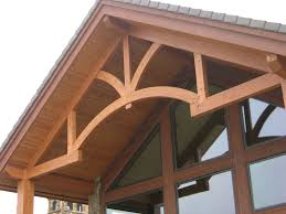 custom made hand hewn rustic timber frame trusses