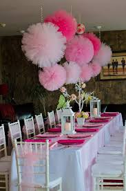 Tulle pom poms, pink party, girls birthday party decorations, nursery  decoration, wedding