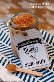 bbq rub recipe with printable gift