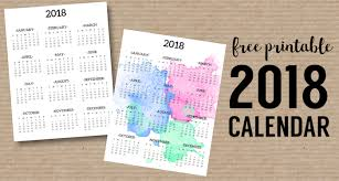 one page calender calendar 2018 printable one page paper trail design