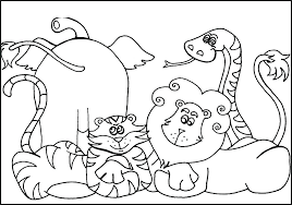 Zoo Animal Coloring Pages For Animals Free Worksheet Worksheets