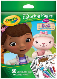 Small Picture Amazoncom Crayola Doc McStuffins Mini Coloring Pages Toys Games