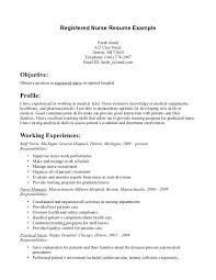 Good Nursing Resume Examples Rn Career Objective Thewhyfactor Co For