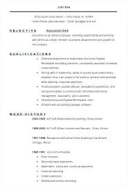 Clerical Resume Template Amazing Accounts Payable Clerk Resume Template Account Sample Format R