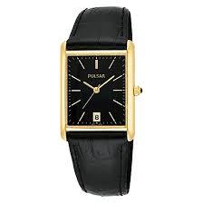 men s pulsar basic dress watch gold tone black leather men s pulsar basic dress watch gold tone black leather strap pxda80