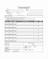 Free Purchase Requisition Form Template For Church Impressive Refund ...