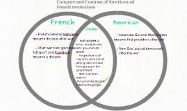 Compare American And French Revolution Venn Diagram Compare And Contrast Of American Ad French Revolutions By