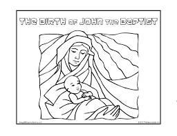 About the feast of passover, herod ordered him beheaded. Birth Of John The Baptist Coloring Pages