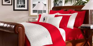 polo player red rose bedding bed linens yves delorme