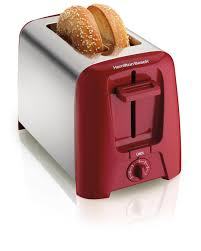 Small Red Kitchen Appliances Amazoncom Hamilton Beach 22623 Cool Wall 2 Slice Toaster Red