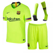Away Soccer short sock Kit Jersey 18-19 shirt Barcelona Green