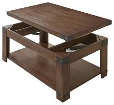 steve silver arusha lift top cocktail table w casters in medium cherry
