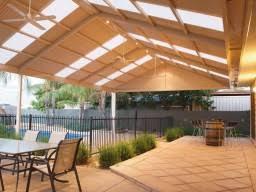 verandah lighting. Steel Gable Verandah With Fans And Lighting