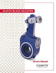Gunite Slack Adjuster Manualzz Com