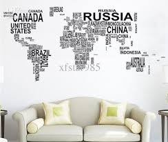 sweet life letters map of world wall decals
