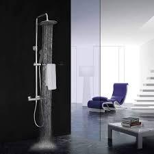Elbe Stainless Steel Mixer Shower Thermostatic Shower Column Shower Set With Round Head Showerrns C05