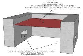 burner pans burner pan link gas fire pit