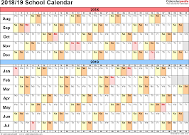 School Calendar Templates School Calendars 2018 2019 Free Printable Word Templates