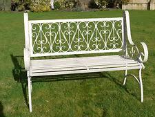 white wrought iron garden furniture. white ornate antique wrought iron outdoor patio seating garden bench 2 seater c furniture