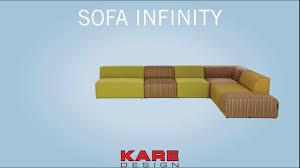 Kare Design Romania Sofa Infinity Velvet Ocean Left Kare Design