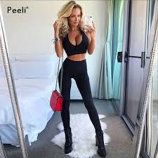 Peeli Women Sport Suit <b>2 PC</b> Sports Shirts Crop Top <b>Seamless</b> ...