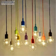 colorful chandelier light e27 socket suspension drop lamp modern vintage edison bulbs bar restaurant bulb not included lamp shades brass pendant