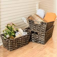 office storage baskets. woven baskets maidmax rectangular rattan storage office i