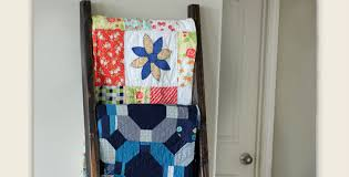 Display Your Quilts on a DIY Quilt Ladder - Quilting Digest & DIY Quilt Ladder Adamdwight.com