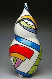 Cliff House Studio and Gallery — Pamela Summers Polychrome   Ceramic art,  Bottle art, Glass art
