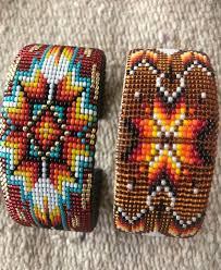 Navajo bead designs Plastic Canvas Image Etsy Feather Design Mini Seed Bead Navajo Native American Cuff On Etsy