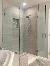 corner shower glass enclosure clear tempered glass corner shower enclosure installed