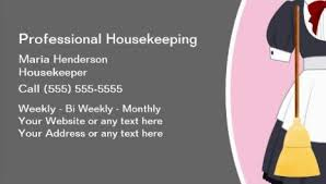 Housekeeper Services Housekeeper Business Cards Chic Pink Spray Bottles Housekeeping