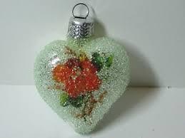 Details Zu Weihnachtsschmuck Christbaumschmuck Kugel Lauscha Blume Herz Heart Glitzer 55cm