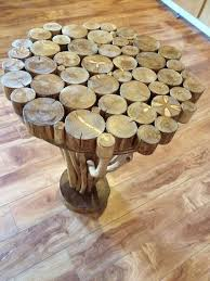 Tree branch side table