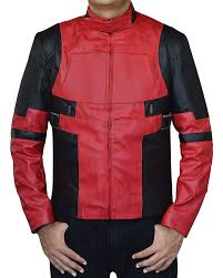 red ryan black biker reynolds deadpool leather jacket at men s clothing
