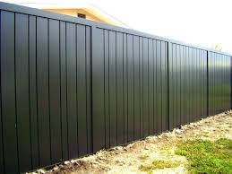 image of how to build sheet metal fence corrugated steel how to build corrugated metal