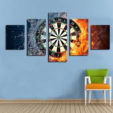 new 5 pieces sets canvas art canvas paintings darts wheel target living room decorations for home wall art prints canvas j0280 in painting calligraphy  on framed canvas wall art target with new 5 pieces sets canvas art canvas paintings darts wheel target