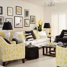 Miskien in Groen Yellow monochrome living room Yellow textiles make this  monochrome scheme sing! Equal amounts of white and yellow are teamed with  black ...