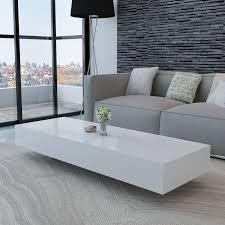 White High Gloss Living Room Furniture Uk Vidaxlcouk White High Gloss Coffee Table 115 Cm
