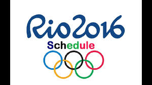 rio 2016 olympics schedule 2016