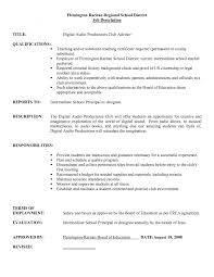 Famous Substitute Teacher Resume Job Description Photos Entry