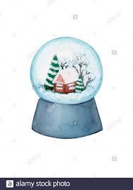 Snow Globe Design Snow Globe Watercolor Christmas Illustration New Year